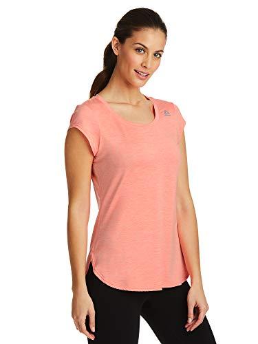 Sleeve Top Training Short (Reebok Women's Legend Performance Top Short Sleeve T-Shirt - Coral Flare Heather, Large)