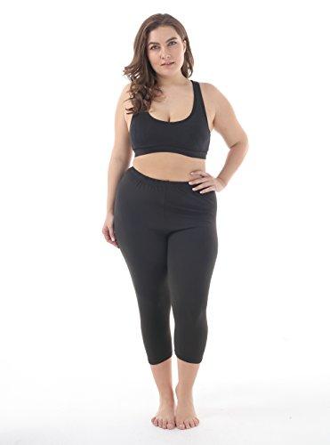 c3445a4968b1b2 ZERDOCEAN Women's Plus Size Lightweight Printed Capri Leggings for Summer  at Amazon Women's Clothing store: