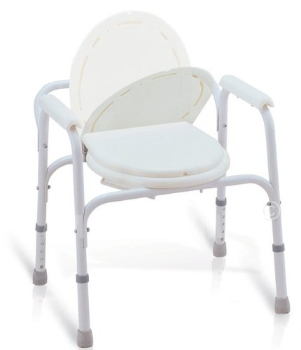 MedMobile® Bedside Commode/Toilet Seat/Safety Rails - All in One Commode