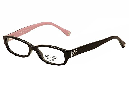 Coach HC6001 Emily Eyeglasses 5053 Black Demo Lens 50 15 - Coach Mens Eyeglasses