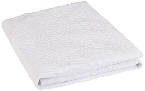 Price comparison product image Perfect Fit PEVA Leaf Quilted Waterproof Mattress Pad, King, White