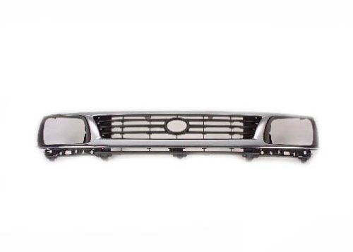 2wd Chrome Grille (Toyota Tacoma Pick Up Truck 95-96 Front Grille Car Chrome / Black 2Wd New)