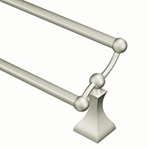 Moen Dn8322bn Retreat 24 Inch Bathroom Double Towel Bar Brushed Nickel Bathroom Towel Bar