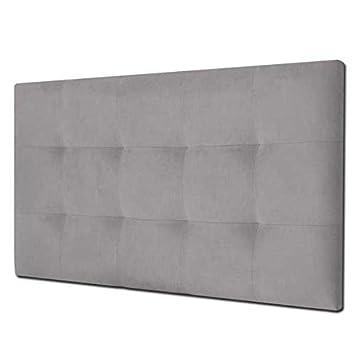 Ventadecolchones - Cabecero de Cama Tapizado Acolchado de Dormitorio en Polipiel con capitoné Modelo Tablet Negro y Medidas 151 x 70 cm para Camas de ...