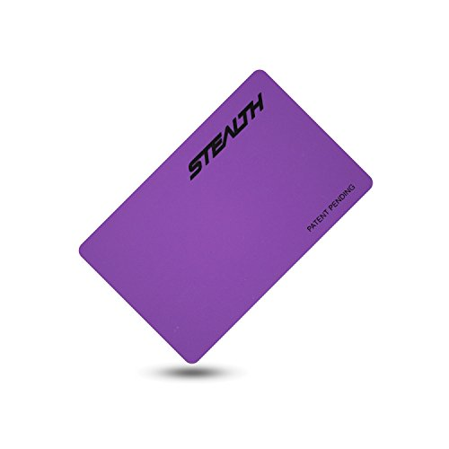 Stealth Card Blocking RFID Card - Compact Identity Theft Protection Card That Fits in Your Wallet or Purse (Purple)