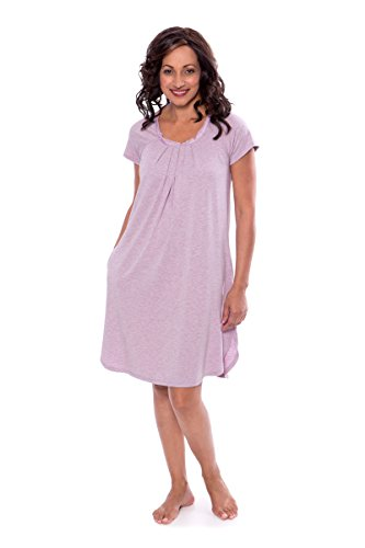 ightgown - Bamboo Viscose Sleepwear by Texere (Slumberous, Heather Lilac, Large) Unique Bamboo Sleepwear Nightgowns For Her TX-WB040-005-21P1-R-L (Ladies Raglan Cap)