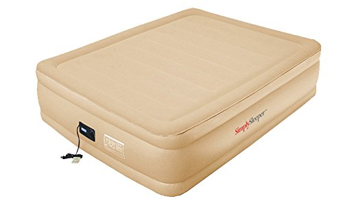 SimplySleeper SS-83Q Queen Raised Air Bed with Flock Top and Quick Inflating Built-in Pump