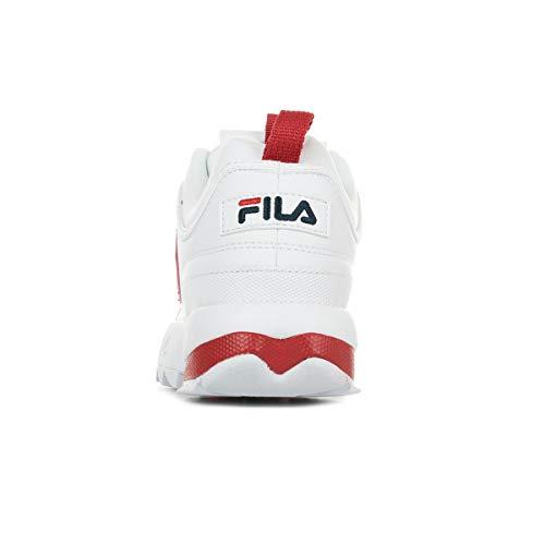 In Donna Bianca Fila Low Disruptor Scarpe Wmn 1010604 Da Pelle Cb 02a Sneaker wg648