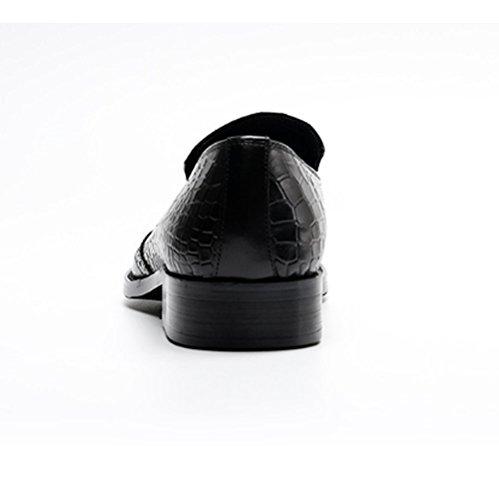 Uomo Uomo Black Scarpe Casual Pelle Bullock Casual Traspirante in da NIUMJ da q17Tvtt