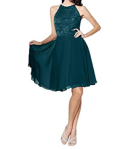 Linie A Abendkleider Gruen Einfach Damen Chiffon Knielang Partykleider Blau Festlichkleider Charmant Brautmutterkleider tq0YP5