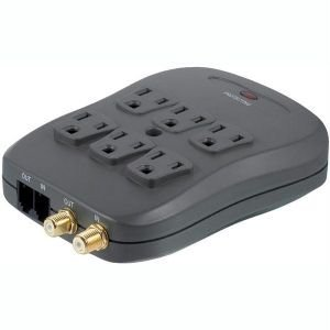 PHILIPS SPP2217WA/17 6-OUTLET HOME THEATER SURGE PROTECTOR