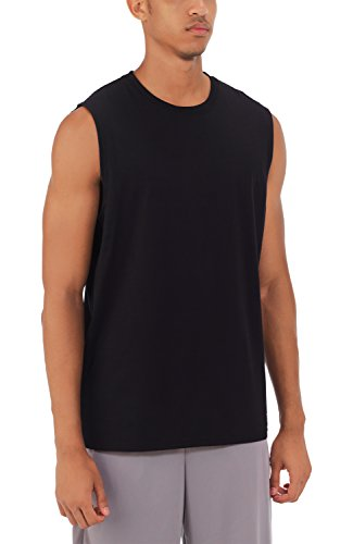 Cotton Muscle Shirt (Russell Athletic Men's Essential Muscle T-Shirt, Black, XXL)