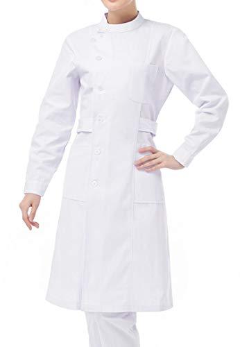 Nanxson(TM Women's Long Sleeve Nurse Uniform Lab Uniform Coat CF9008 (L, White)