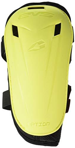 Option Elbow Pad - EVS Sports Men's Pad (Option Elbow Pair) (Hi-Viz Yellow, Adult), 2 Pack