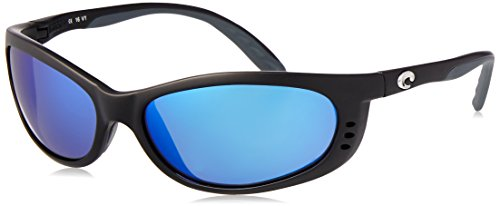 Costa del Mar Unisex-Adult Fathom FA 11 OBMP Polarized Iridium Oval Sunglasses, Matte black, 60.5 mm