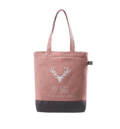 Tom Clovers Womens Girls Canvas Letter Deer Shoulder Bag ...