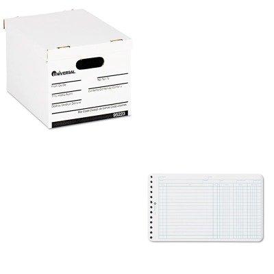 KITUNV95223WLJ75850 - Value Kit - Wilson Jones Extra Sheets for Six-Ring Ledger Binder (WLJ75850) and Universal Economy Storage Box (UNV95223) ()