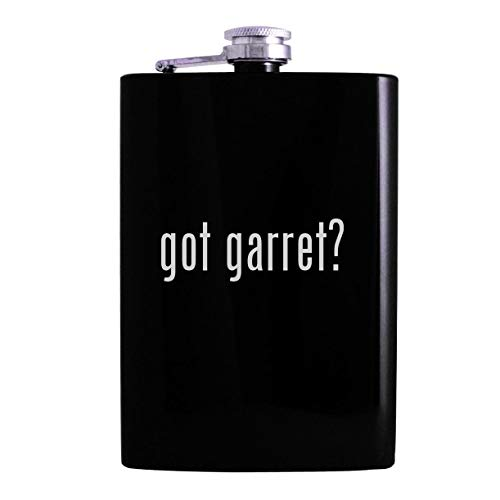 got garret? - 8oz Hip Alcohol Drinking Flask, Black (Gti Garret)