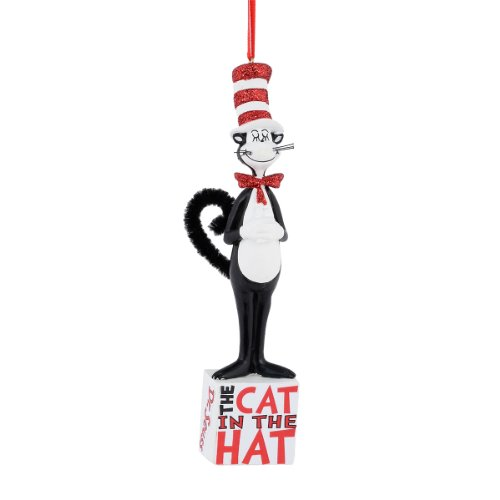 Department 56 Dr. Seuss Cat in the Hate on Block Ornament, 5.75 inch