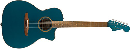 Fender Newporter Classic - California Series Acoustic Guitar - Cosmic Turquoise with Gig Bag ()