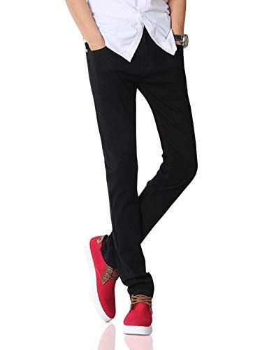 Comodo Jeans Battercake Moda Pantaloni Neri Nero Vintage Dritti Casual Uomo 808 Da Serie Skinny Stretch UUZqSzt