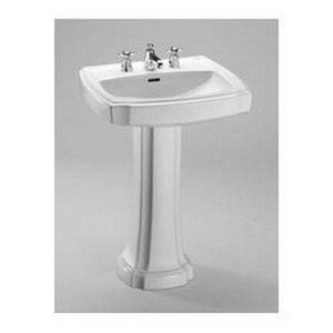 TOTO LPT970.8#01 Guinevere Lavatory and Pedestal with 8-Inch Centers, Cotton White