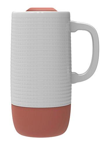 - Ello Jane Ceramic Travel Mug with Spill-Resistant Slider Lid, 18 oz, Coral