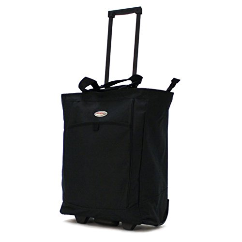- Olympia Luggage Rolling Shopper Tote,Black,One Size