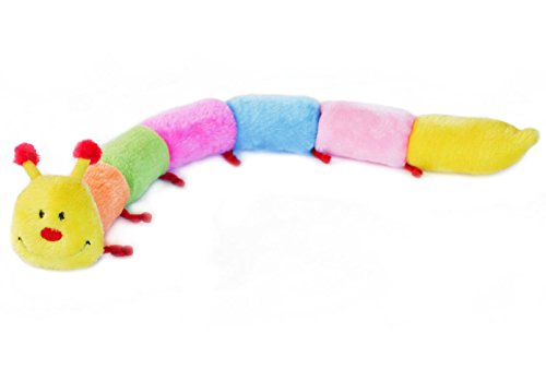 ZippyPaws Caterpillar Deluxe with 6-Blaster Squeakers No Stuffing Plush Dog Toy