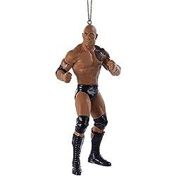 """Kurt Adler 5"""" Resin WWE The Rock Christmas Ornament"""