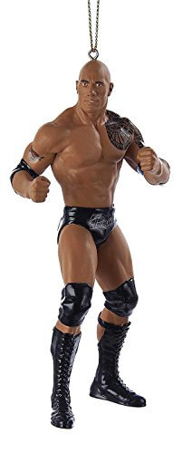 Kurt Adler 5  Resin Wwe The Rock Christmas Ornament