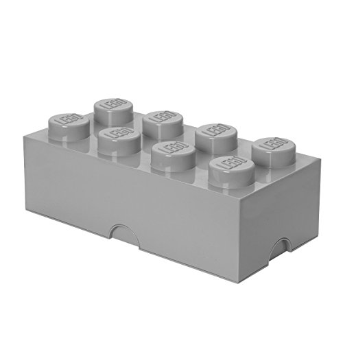 LEGO Storage Brick 8 Medium Stone Grey