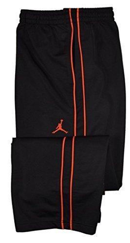 Jordan Big Boys Athletic Training Pants-Black/Crimson XL (Best Pants For Jordans)