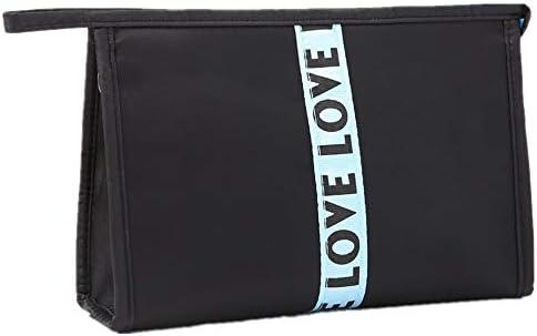 化粧品袋 女の子の女性のための気質ジッパー収納袋主催のパターンを持つさんの美しさのケース化粧バッグ旅行化粧品袋 旅行化粧収納ボックス (Color : Beige)