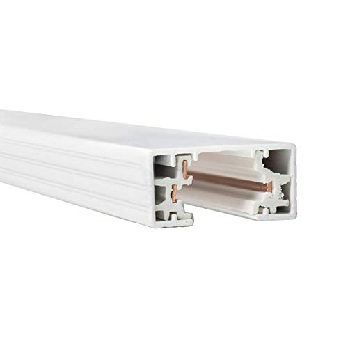 WAC Lighting HT6-WT 120V 6 Foot H Track with Mounting Hardware, Single Circuit, White (Renewed)