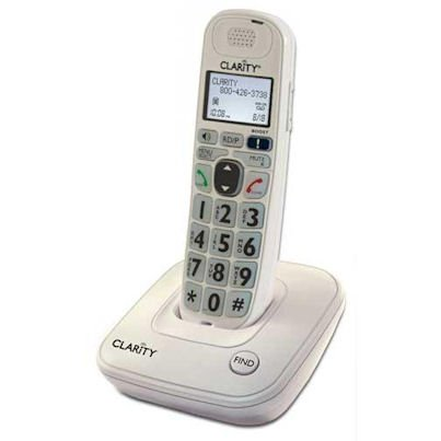 Clarity D704 40db Amplified/Low Vision Cordless Phone with CID Display (Best Amplified Phone For Hard Of Hearing)
