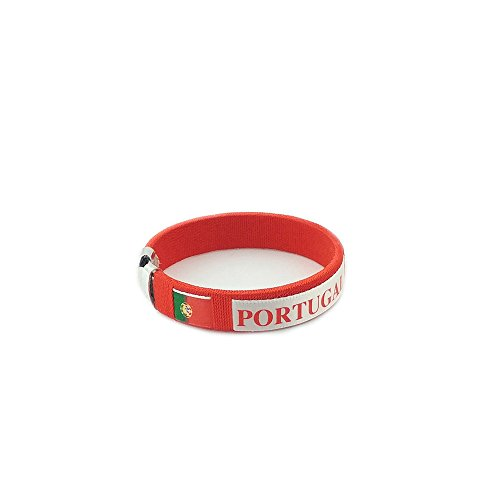 Amana Countries of the World Flag C Bracelets Wristbands (Portugal - Red) ()