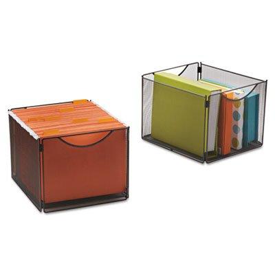 Cube Onyx Black (Onyx Mesh Cube Bins, 12 1/2w x 14d x 10h, Black, 2/Pack, Sold as 1 Package)