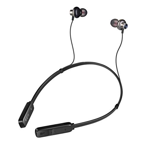 TIMMY Wireless Headphones-Bluetooth Earphones with Microphone Running Headset Waterproof in-Ear Buds-Noise Cancelling with CSR Bluetooth V4.2(Black)