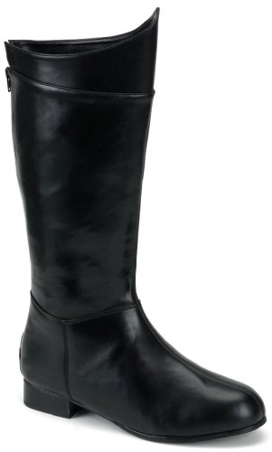 PLEASER Mens Super Hero (Black) Adult Boots Polyester Medium 10-11 US from Pleaser