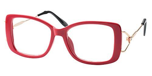 SOOLALA Ladies Lightweight Large Frame Eyeglass Fashion Read