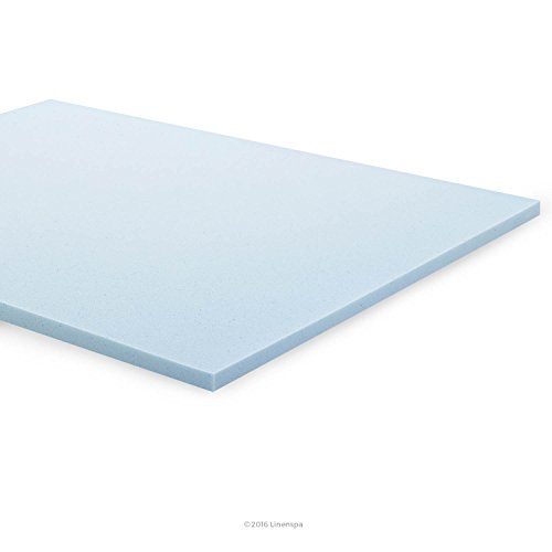 LINENSPA 2 Inch Gel Infused Memory Foam Mattress Topper - Twin size (Twin Foam Mattress Pad 2 Inch)