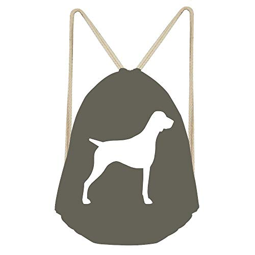 (Niomhdos German Shorthaired Pointer Silhouette(s) Drawstring Backpack Small Hiking Bag Gym Backpack Lightweight Backpack Polyester Bag)