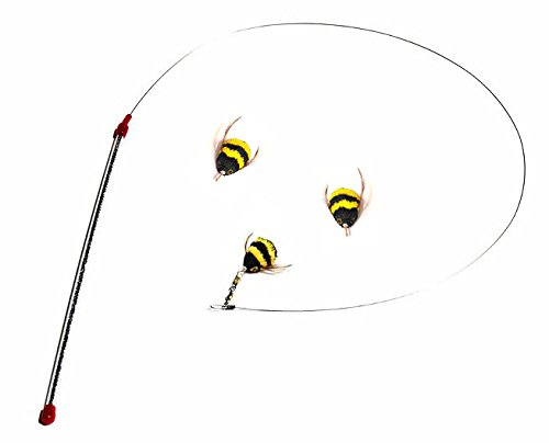 Go cat da bee teaser wand and two extra bee attachments for Diy cat teaser wand