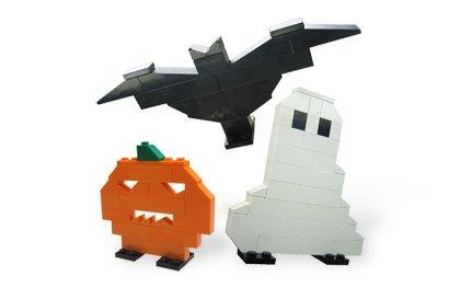 LEGO Seasonal Halloween Mini Figure Set #40020 Ghost, Pumpkin Bat -