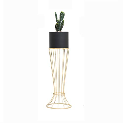 (Plant Stand Flower Pot Holder Metal Plant Stand with Flower Pot Skirt Bracket Floor-Standing Succulent Potted Storage Rack Home Decorative for Garden Patio)