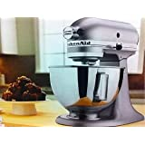 New Kitchenaid Stand Mixer Tilt 4.5-quart Ksm85pbsm All Metal Silver Metallic Fast Shipping By Fedex