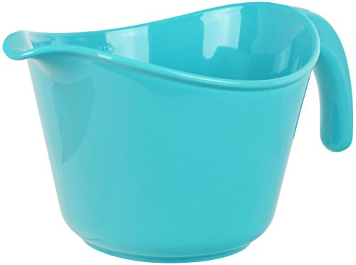 Calypso Basics by Reston Lloyd 2-Quart Microwave Safe Batter Bowl, Turquoise
