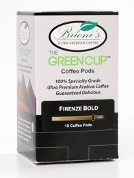 Brioni's Coffee Madagascar Vanilla Blend - Green Cup Coffee Pods 18 Pack