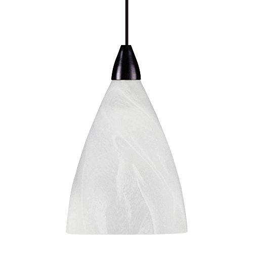 Nuage Fixture (LBL Lighting LF5490NUSC2D100 1-Light Drop Mini-Pendant, Nuage Glass Shade with Satin Nickel Finish)